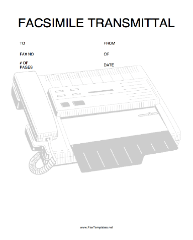 Transmittal Fax Template